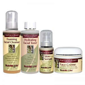 kit facial natural antioxidante