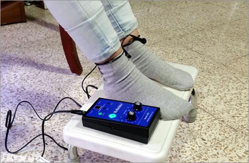 uso de calcetines conductores con rebuilder