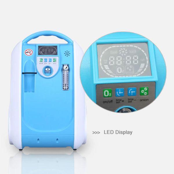 pantalla led de concentrador de oxigeno portatil