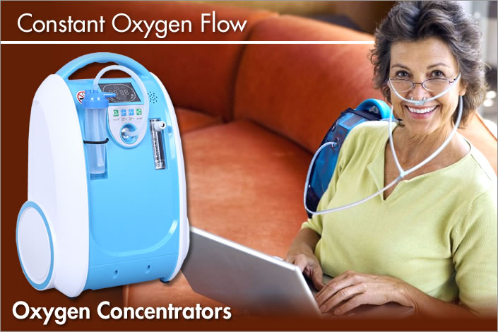 constant oxygen flow with oxygen therapy