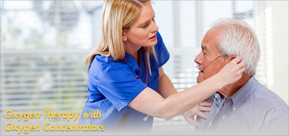 oxygen therapy with oxygen concentrators