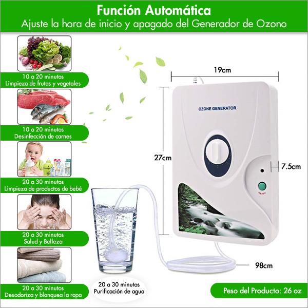 usos del generador de ozono