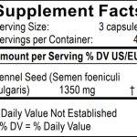 Información Nutricional Semillas de Hinojo