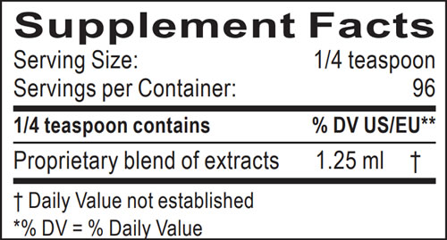 Supplement Facts 3-in-1 Tincture