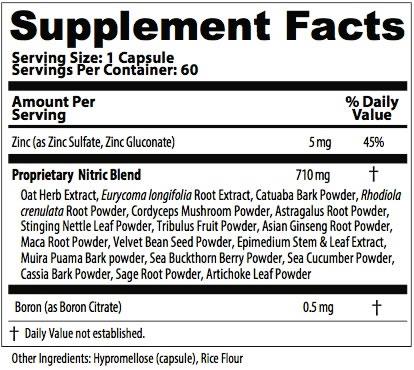 testro vida pro informacion nutricional