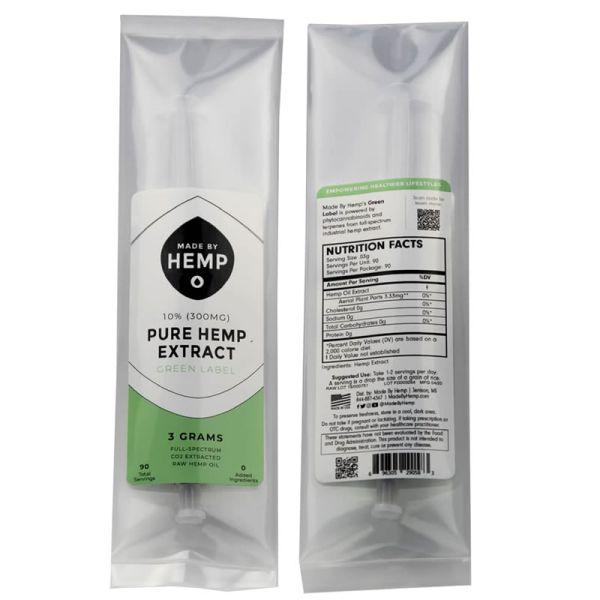 aceite concentrado cbd puro green label 3 gramos