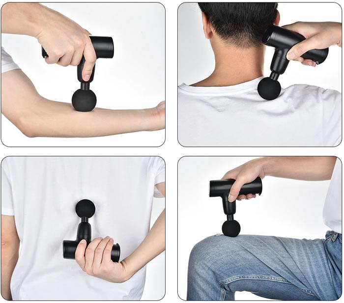 masaje muscular con la mini pistola electrica