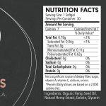 Información Nutricional de Cápsulas blandas de CBD