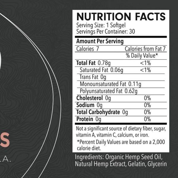 informacion nutricional capsulas blandas de cbd
