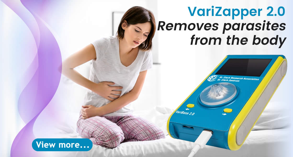 removes parasites from the body with the zapper