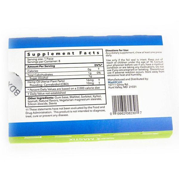 goma de mascar medcbdx supplement facts