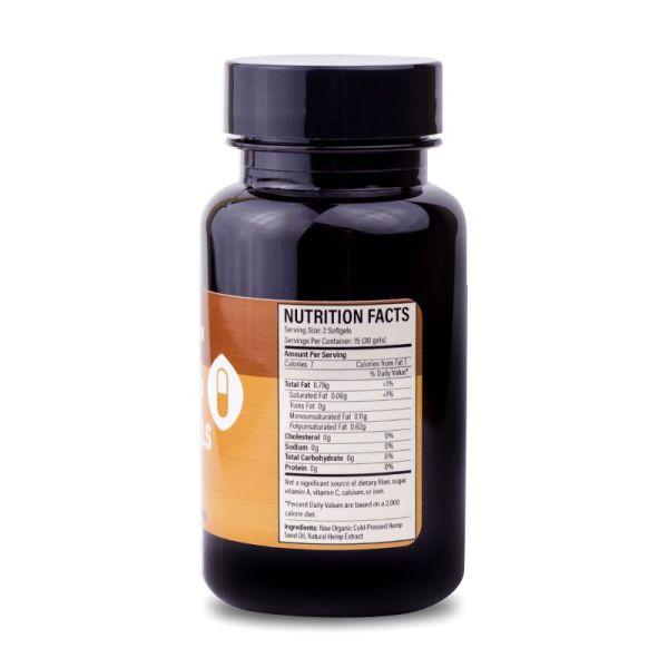 informacion nutricional capsulas blandas tasty hemp